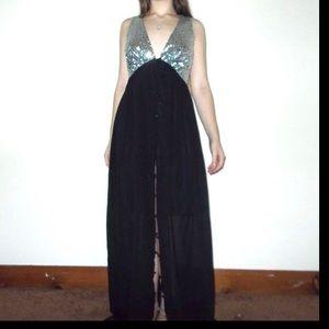 NWT Boohoo Sequin Chiffon Maxi Dress